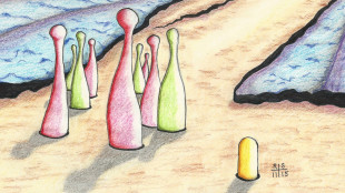 Larval Muses Develop Near a Peg. Pencil, colored pencil & ink on paper